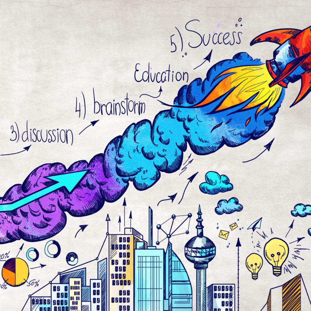 Startup and entrepreneurship concept