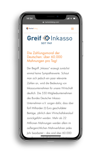Iphone Interview Greif Inkasso MarketDialog